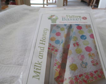 """Papper Pattern for a quilt called Milk and Honey by Margot Languedoc Designs at The Pattern Basket 54"""" x 68"""""""