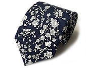 Liberty Navy Summer Bloom floral tie