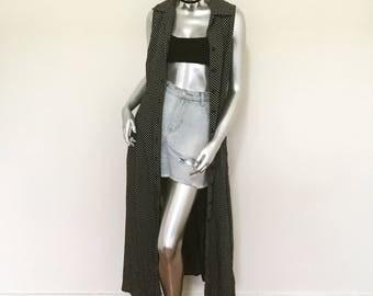 Vintage 90s Polka Dot Festival Duster Dress
