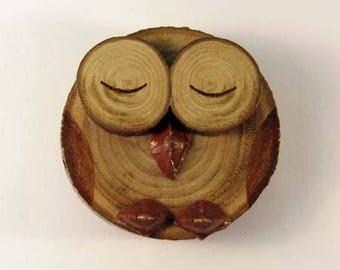 OWL magnet in chestnut (ref.43 - 29)