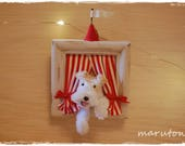 Pipe Cleaner  Wire fox terrier  3D frame (Red)