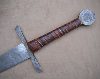 Hand forged Crusader sword: Forged in Canada. Viking, Hand forged sword. crusader, Medieval. Maciejowski bible, Knight