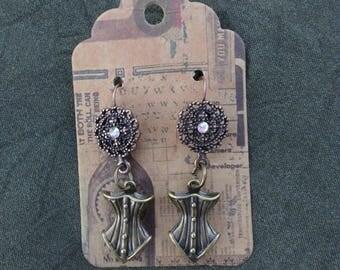 Steampunk Corset Earrings