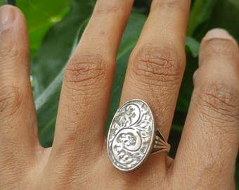 Antique Silver Compartment Poison Ring