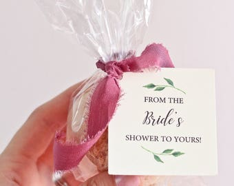 Bath Bomb Favor Tags - Wedding Favor Tags - Bridal Shower Tags - From my shower to yours - Set of 40