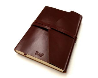 2018 Leather Daily Planner - Personalized - Customized with your initials