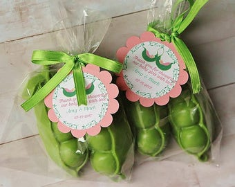 20 Sweet Peas Soaps/Triplets shower favors/Baby shower soap favors/Tweens Birthday favors/Tween Babies