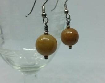 Golden Quartz Earrings with Surgical Steel Ear Hooks