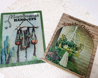 Vintage Macrame Hangers Pattern Books, Macrame Instruction Books, Full Instructions with Photos, 1970s