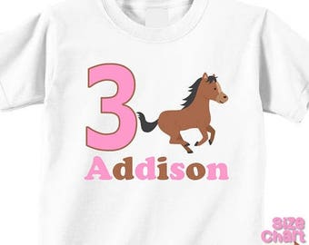 SALE Personalized Pony Horse Riding Horseback Birthday Party Shirt Boys Girls 1st First 2nd 3rd 4th 5th 6th Birthday Party Horses Ponies Rid