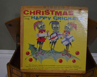 Vintage Vinyl Record Christmas with the Happy Crickets Album AKS-X9