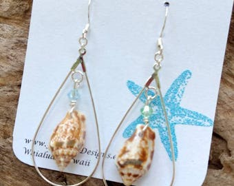 Hawaiian Stromb Shell Earrings
