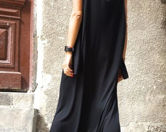 SALE NEW Collection AW 2015 Black Viscose  Jumpsuit  / Extravagant Loose Jumpsuit  both long sleeves and sleeveless  by Aakasha A19316