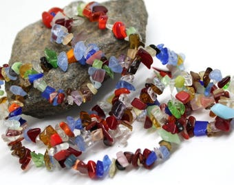 Bright Mixed Color Gemstone (IM) Bead Chips