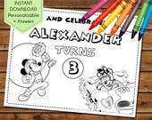 Mickey and the Roadster Racers Party Favors, Mickey Roadster Racers Coloring Pages, Party Games, Birthday Favors, Party Activity Book