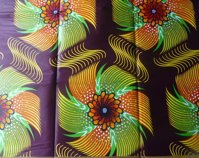6 YARDS African Fabrics Java Print Cotton Fabrics For Dress &Craft Making Sewing Fabric/Kitenge/Pagnes/Kikwembe /Tissues Africain