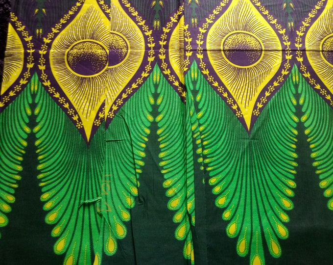 1 YARD African Fabrics  Print Cotton Fabrics For Craft Making Dresses Skirts Shirts Also Know as Kitenge Tissues Africain Pagnes Ankara