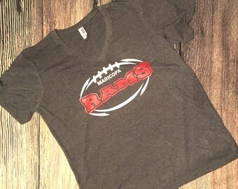 Custom School Football laces personalized shirt