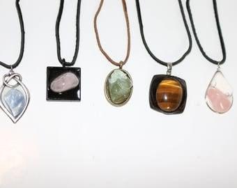 Stone Pendant Chokers