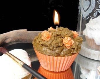 Candle gourmet cupcake trick or treat halloween pumpkin cake
