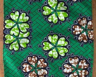AFRICAN NAPKINS: set of 4 green trellis