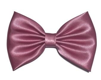 Rose Hair Bow, Satin Hair Bow Clip, Bows For Women, Kawaii Bows, Handmade Bow, Satin Fabric Bow, Lolita, Big Bow, Baby Girl Bow, Rose ST010