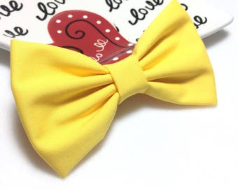 Yellow Hair Bow For Toddlers, Yellow Hair Bow, Hair Bow For Toddlers, Yellow Hair Clip, Toddlers Bow, Yellow Bow,  Large Hair Bow, Hair Bows