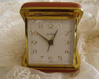 Vintage SETH THOMAS Folding Travel Alarm Clock/Germany