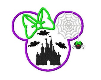 Mouse Inspired Halloween Ears embroidered Disney Inspired Vacation Shirts! 1005a girl