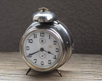 15% off Antique German Alarm Clock HALLER 1920's - working /  Vintage alarm clock / Gustav Becker clock