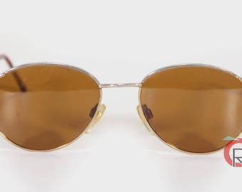 Vintage 70s Wire Rim Glasses Gold RIM ROUND Aviator Style Tortoise Wire Rim