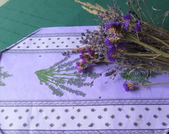 Placemats. Set of placemats.Stain and water proof. Easy care.Fabric from Provence, France. Lavender in purple