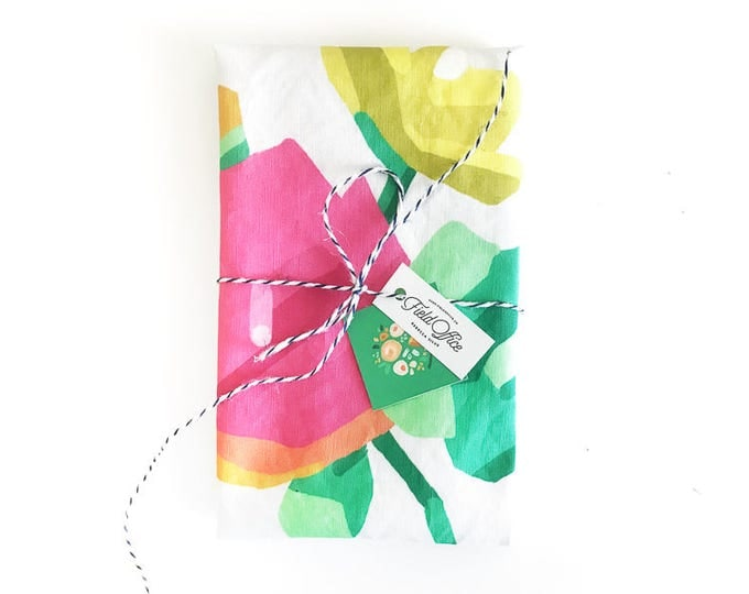 Abstract Floral Tea Towel