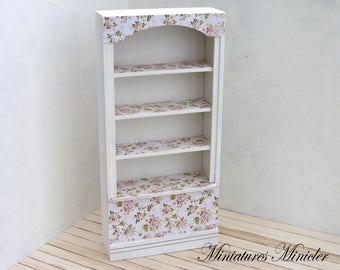 Miniature Dollhouse Cupboard Shabby Chic Style
