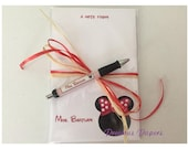 Personalized red Minnie Mouse note pad and pen set Personalized Minnie Mouse gift Personalized Minnie Mouse notepads