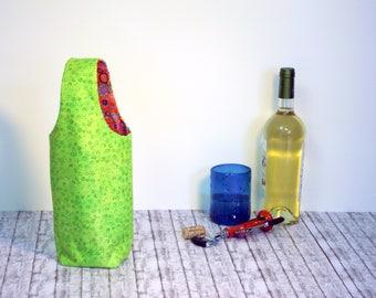 Wine tote bag- reversible - reusable - present/gift/wine lovers -