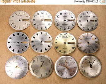 ON SALE Vintage Watch Faces - set of 12 - c53