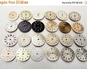 ON SALE Small Watch Faces - set of 24 - c85