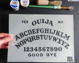 Halloween Decor, OUIJA BOARD STENCIL, Art Craft and Decorating Stencil, Painting, Various sizes, Reusable Mylar Stencils