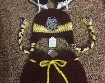 UMD Bulldogs Crochet Hockey Set