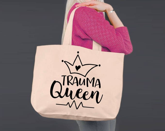 Trauma Queen  | Queen | Tote Bag | Canvas Tote Bag | Beach Tote | Canvas Tote | Shopping Tote | Shopping Bag | Korena Loves