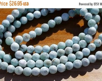 """SAVE 20% 1 16"""" Beautiful Genuine Natural Larimar 5-5.5mm Smooth Rounds Beads (67 beads)"""