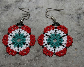 Huichol Peyote Beaded Earrings P