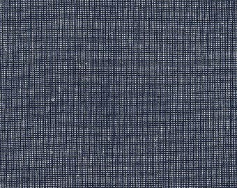 Navy Essex Yarn Dyed Homespun from Robert Kaufman Navy Linen Fabric - Cotton Linen Blend - Quilt Fabric - Dark Blue Linen Yarn Dyed Linen