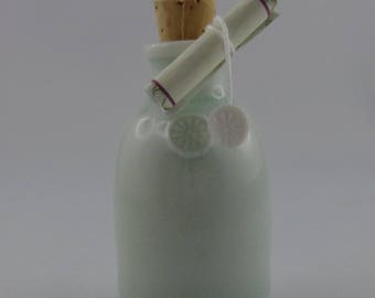 Porcelain wish bottle