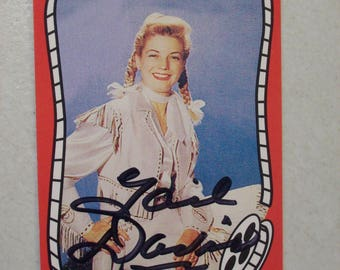 Vintage Riders of the Silver Screen Cowgirl Gail Davis Annie Oakley Autographed Western Movie Trading Card, No. 72