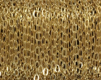 10FT(3mt) Gold Filled Chain - Flat Cable Chain 1.8mm wholesale - Gold Fill Chain - Flat Cable Chain - Yellow Gold Chain cable - bulk chain