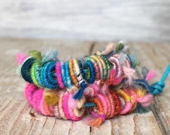20 Handmade Fabric Textile Beads - Hippie Boho Beads - Fiber Art Beads - Textile Art Beads - Handmade Beads - Unique beads - Jewelry making