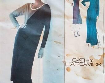 Simplicity vintage sewing pattern- Cathy Hardwick designer dress long or below knee 1980s- size 14