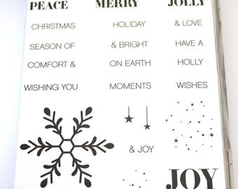 Holly Jolly Greetings Rubber Stamp Set retired from Stampin Up